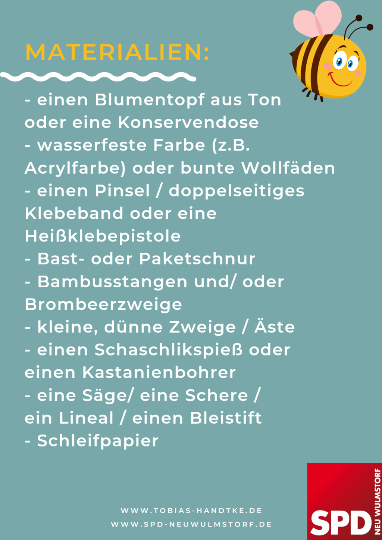 Insektenhotel - Materialien
