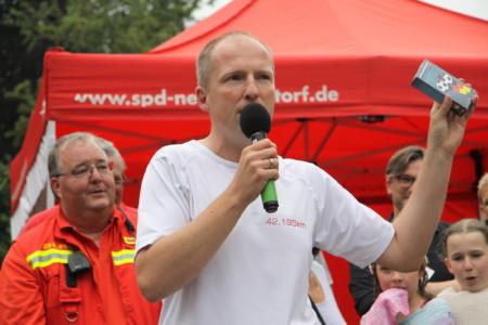 Tobias Handtke beim Heidelauf