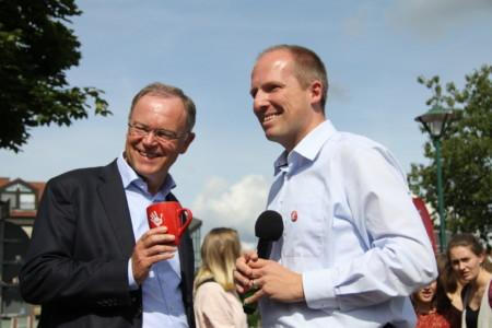 Stephan Weil und Tobias Handtke