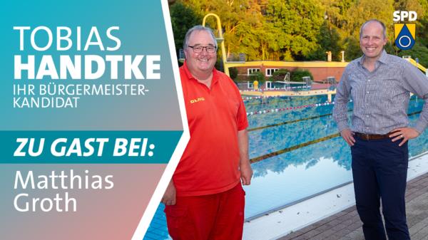 Tobias Handtke zu Gast bei Matthias Groth (DLRG)